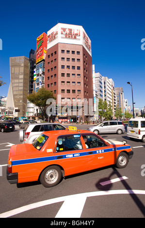 Traffic on Harumi-Dori, Ginza, Tokyo, Japan - Stock Photo