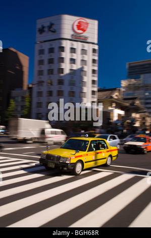 Harumi-Dori, Ginza, Tokyo, Japan - Stock Photo