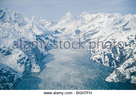 Alaska. Glacier Bay NP.John Hopkins inlet in April. - Stock Photo