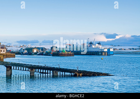The old lifeboat slipway on the seafront at Stromness Mainland Orkney, Highland Region Scotland  SCO 5817 - Stock Photo
