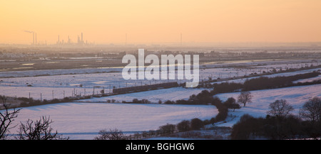 Hadleigh Marshes in Winter - Stock Photo