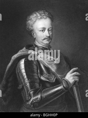 John III Sobieski (1629-1696). One of the most notable monarchs of the Polish-Lithuanian Commonwealth. - Stock Photo