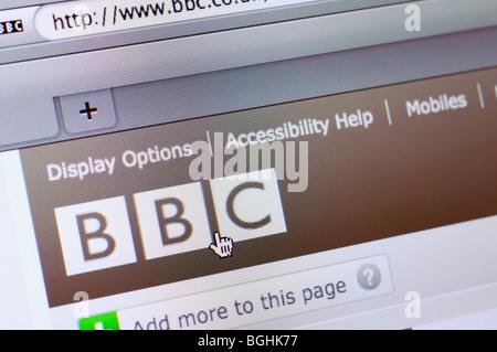 BBC website - Stock Photo