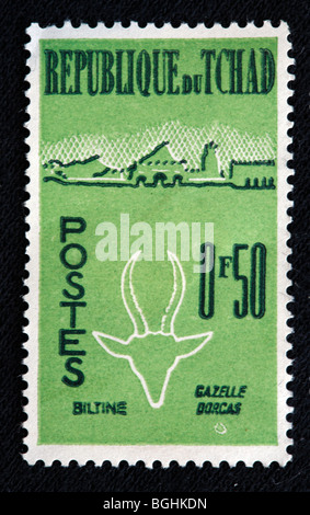 Postage stamp, Republic of Tchad - Stock Photo