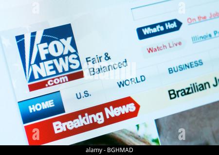 Fox News website - Stock Photo