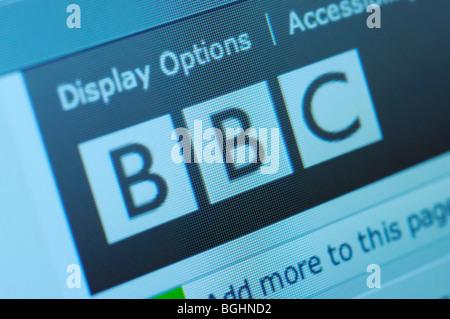 BBC British news website - Stock Photo