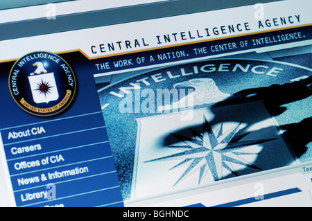 CIA website - Stock Photo