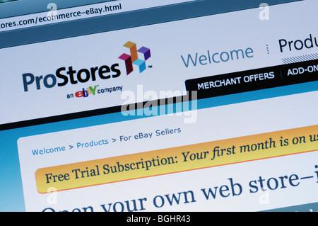 ProStores website - Stock Photo