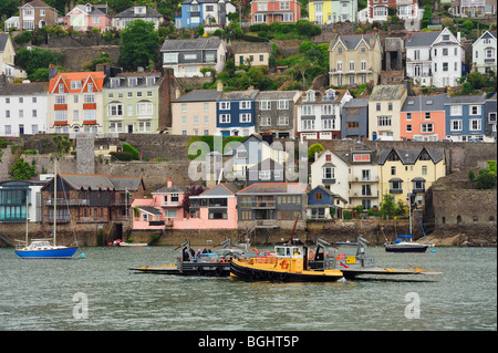 Boats on river Dart at Dartmouth, Devon, England - Stock Photo