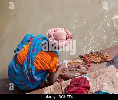 The River Ganges, Varanasi, India - Stock Photo