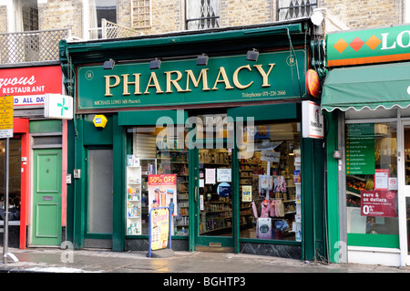 Pharmacy or Chemist Highbury Barn Islington London England UK - Stock Photo