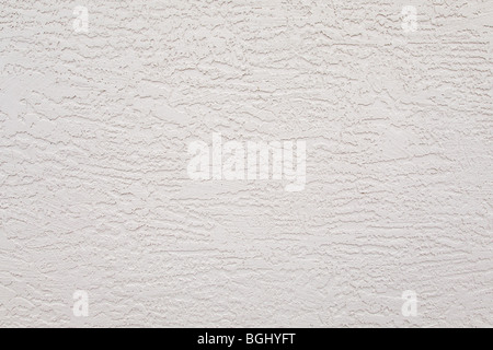 exterior white stucco wall rough background pattern - Stock Photo