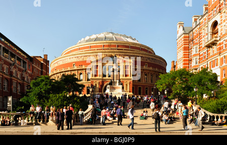 Royal Albert Hall on the day of the last night of the Proms - Stock Photo