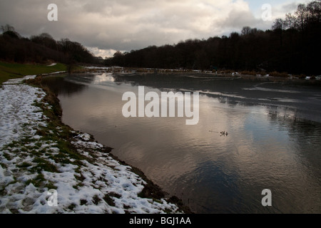Barlow fishery trout lakes river Derbyshire England. - Stock Photo