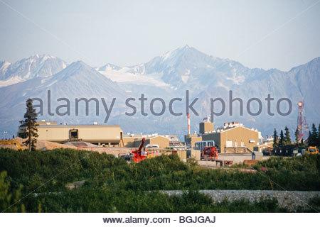 Alaska., Trans Alaska Pipeline, Pump Station #10 - Stock Photo