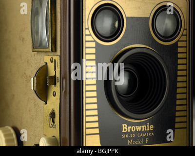 Kodak Brownie box camera - Stock Photo