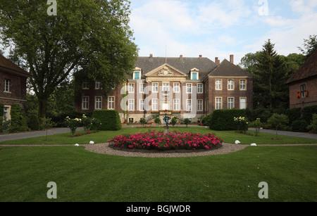 Drensteinfurt, Haus Steinfurt, Wasserschloss, erbaut 1700-1709 von Friedrich von Corfey, Parkanlage - Stock Photo