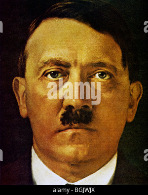 ADOLF HITLER in a portrait painted for his 50th birthday on 20 April 1939 - Stock Photo