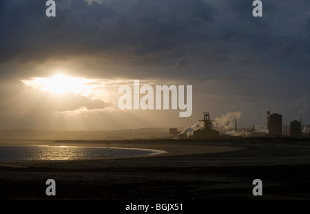 The blast furnace and industry of the Redcar site, Corus Steel on Teeside, Cleveland, United Kingdom.  Photo by - Stock Photo