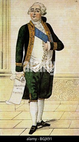 LOUIS XVI - King of France (1754-93) - Stock Photo