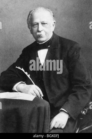 THEODOR FONTANE - German poet and novelist (1819-98) - Stock Photo