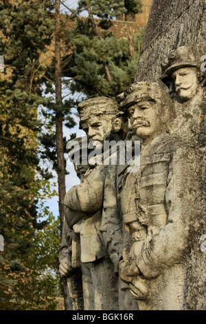 Memorial of the fallen partisans. Valle Maddaloni, Province of Caserta, Campania, Italy - Stock Photo