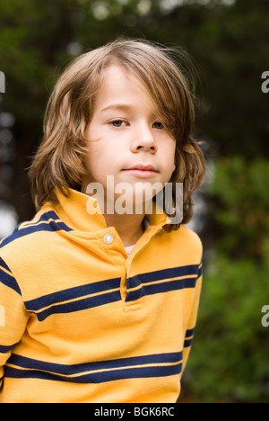 portrait of serious boy - Stock Photo