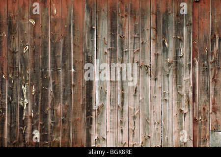 Grungy weathered wooden boards background texture - Stock Photo