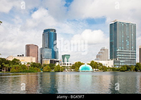 Modern Architecture Orlando buildings at the waterfront, lake eola, orlando, orange county