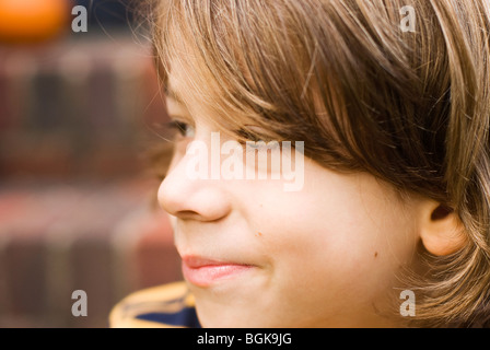 close up of boy's face - Stock Photo