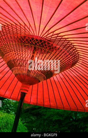 Coarse oilpaper umbrella close up - Stock Photo
