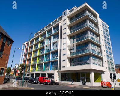Modern apartments in Nottingham, England, U.K Stock Photo ...