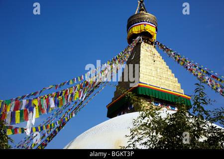 Bodhnath Stupa Kathmandu Nepal Asia - Stock Photo
