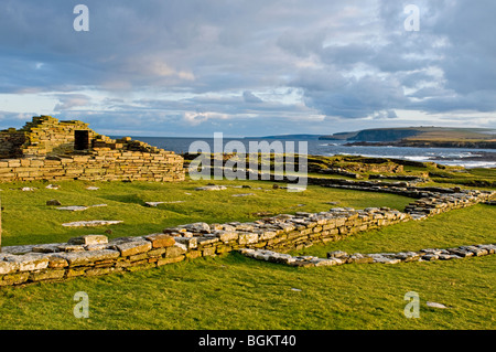 Brough of Birsay on the Mainland Orkney site of early Norse and Pictish Settlements  SCO 5863 - Stock Photo