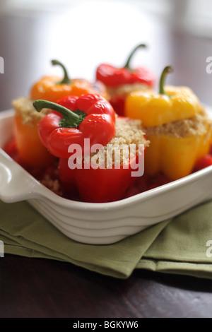 Quinoa stuffed bell peppers - Stock Photo