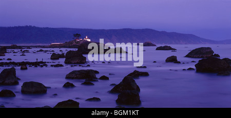 CALIFORNIA - Battery Point Lighthouse on the Pacific Coast at Crescent City. - Stock Photo