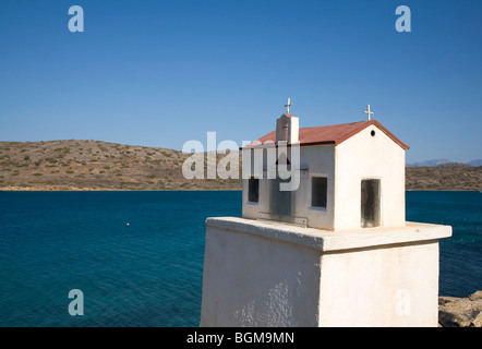 Memorial for deathly car accident on the island of Crete, Europe. - Stock Photo