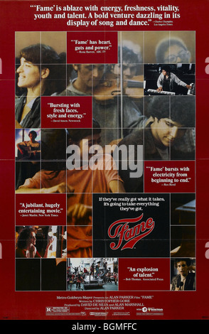 Fame  Year : 1980 Gene Anthony Ray  Director: Alan Parker Movie poster (USA) - Stock Photo