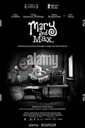 Max Poster Mary And Max 2009 Stock Photo Alamy