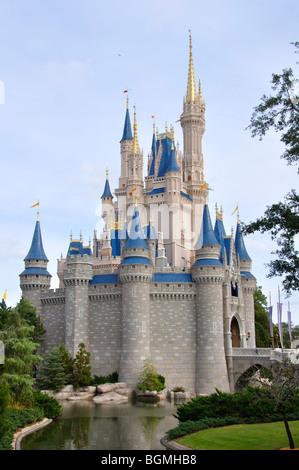Cinderella's Castle, Disneyworld, Orlando, Florida, USA - Stock Photo