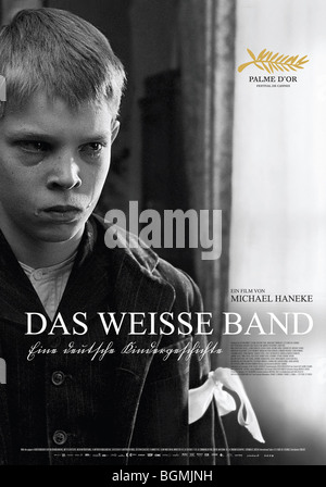 Das weisse Band The White Ribbon Year  2009 Austria Director  Michael Haneke Leonard Proxauf Movie poster  (Ger) - Stock Photo