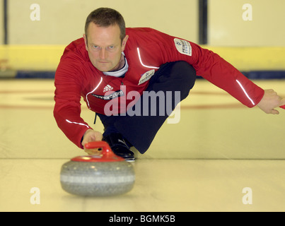 Peter Smith Team GB Men's Curling Team for Vancouver Winter Olympics 2010. - Stock Photo