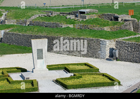 The WW1 Trench of Death, First World War One defense made of sandbags along the river IJzer, Diksmuide, Belgium - Stock Photo