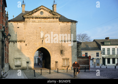 The old prison gate in the city Lier, Belgium - Stock Photo