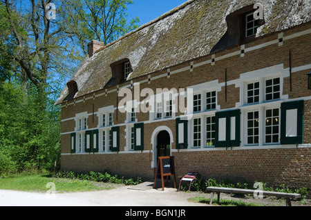 Traditional house in the open air museum Bokrijk, Belgium - Stock Photo