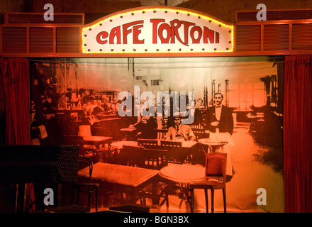 Interior sign of Cafe Tortoni in Buenos Aires, Argentina - Stock Photo