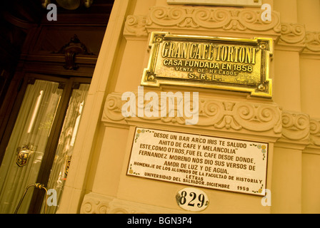 Entrance to Cafe Tortoni in Buenos Aires, Argentina - Stock Photo