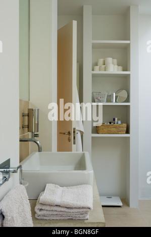 Ground floor bathroom and Philippe Starck sanitary ware - Stock Photo