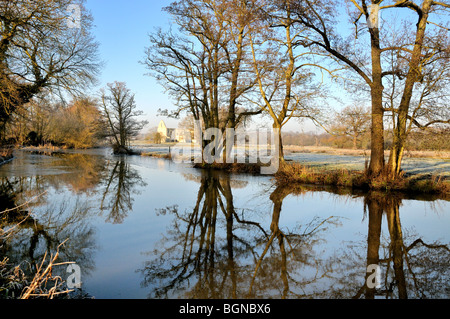 River Wey Navigation,Pyrford Surrey - Stock Photo