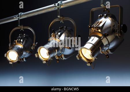 Three overhead spotlights